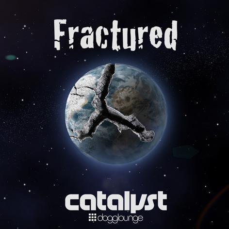 Digital art of fractured planet