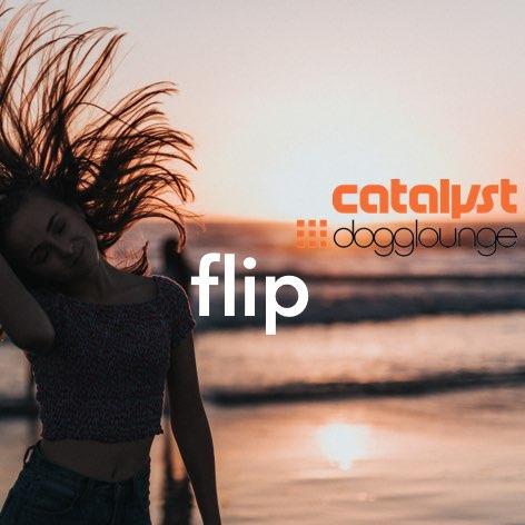 photo of woman in bikini at sunset flipping long hair into sun